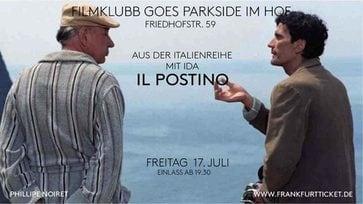 "Fr 17.07.20, 20 Uhr – Filmklubb im Hof: ""Il Postino"" In der Italo Reihe mit Ida"