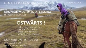 Do 13.08.20, 20 Uhr – Filmklubb im Hof: Julia Finkernagel, Ostwärts