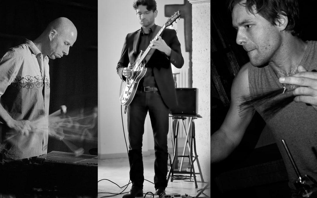 Sa 18.07.2020, 20 Uhr – »afip!« im Hof: Christoph Aupperle   Vibrafon, Julian Kessler   Gitarre, Lutz Jahnke   Drum