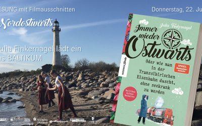 Do 22.07.2021, 19 Uhr – filmklubb – Lesung & Anekdoten Ostwärts – Baltikum mit Julia Finkernagel